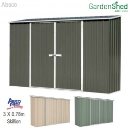Absco Eco Spacesaver Garden Shed GREEN or PAPERBARK or GREY