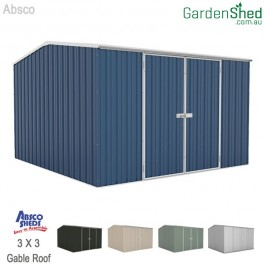 Absco 3 x 3 Garden Shed - Deep Ocean Blue