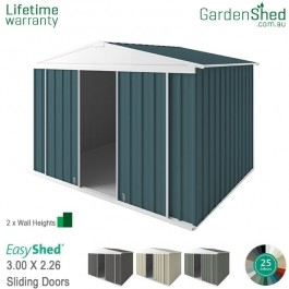 EasyShed 3.00x2.26 Garden Shed - Sliding Doors