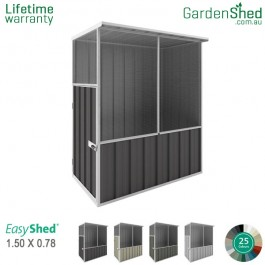 EasyShed 1.50x0.78 Garden Shed - Aviary - Woodland-Grey / Slate Grey