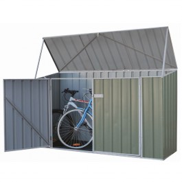 Absco Bike Shed 2.26x0.78 Garden Shed - Pale Eucalypt