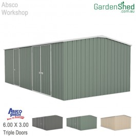 Absco Eco Workshop Garden Shed - Pale Eucalypt