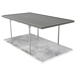 Absco Single Carport CARPORT30ECO - Woodland Grey