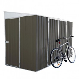 Absco Bike Shed 3x1.52 Garden Shed - Woodland grey