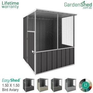 EasyShed 1.50x1.50 Garden Shed - Aviary - Slate Grey