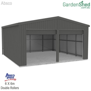 Absco Double Garage WGRG60602N2  Woodland Grey