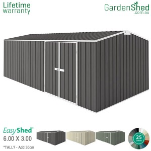 EasyShed Workshop<br>6.00m x 3.00m<br>Gable (triangle)