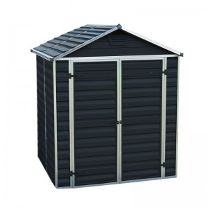 Palram Skylight 1.84m(W) x 0.90m Plastic Shed with Floor included